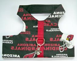M Dog Pup Pet Custom Fashion Harness Vest NFL Arizona Cardin