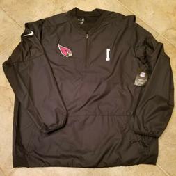 Men's Arizona Cardinals Black Nike Half-Zip Pullover Jacket