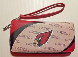 NEW Arizona Cardinals NFL Curve Zip Organizer Wristlet Women