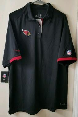 NEW Nike Men's Dri-Fit Polo Shirt black NFL Arizona Cardinal