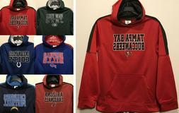 New NFL Boy's Hoodie Football Hooded Sweatshirt Youth Kids S