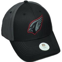 NFL Arizona Cardinals Black Red Logo Outline Hat Cap Adjusta