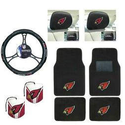 NFL Arizona Cardinals Car Truck Floor Mats Steering Wheel Co
