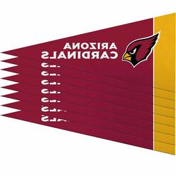 "NFL Arizona Cardinals 8-Pack 4"" x 9"" Cardinal Mini Pennant S"