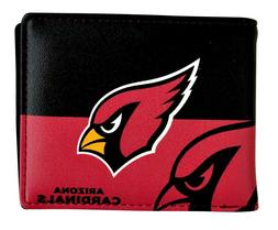NFL Arizona Cardinals Men's Printed Logo Leather Bi-Fold Wal