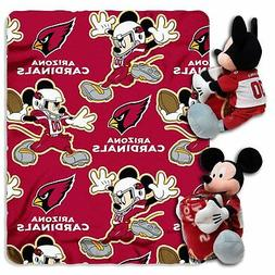 NFL Arizona Cardinals Mickey Mouse Pillow with Fleece Throw