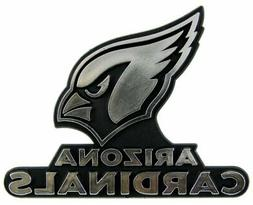 NFL Arizona Cardinals Plastic Chrome Emblem Decal Size Aprx.