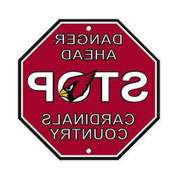 "NFL Arizona Cardinals Stop Sign, 12"" x 12"""