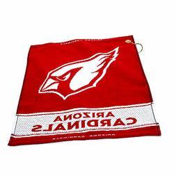 "NFL Arizona Cardinals Woven Golf Towel 16"" x 19"" Course Club"