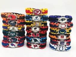 NFL Football Paracord Bracelet Wrap Wristband