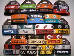 NFL Football Silicone Rubber Wristband/Bracelet 2 pack  *Bun
