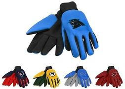 NFL Football Utility Work Gloves Colored Palm - Pick Your Te