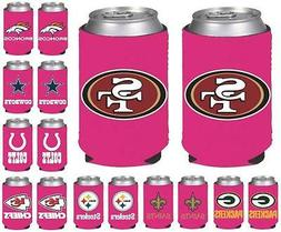 NFL Football Womens Hot Pink Can Holder Collapsible Cooler -