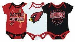 """NFL Infant Arizona Cardinals """"3 Points"""" 3 Piece Bodysuit Set"""