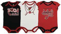 Outerstuff NFL Infant Girls Arizona Cardinals Assorted 3 Pac