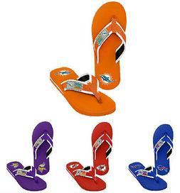 nfl mens locker label contour sandal flip