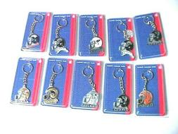 NFL PEWTER KEYCHAINS. NEW. ASSORTED TEAMS, DISCOUNTED PRICE,