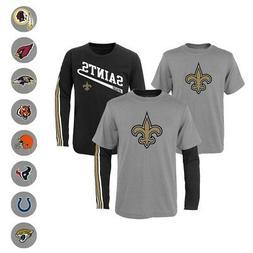 "NFL Outerstuff  ""Squad"" Long & Short Sleeve T-Shirt Set Todd"