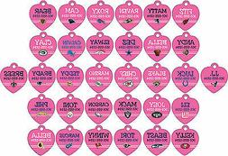 NFL Pink Pet Id Tags for Dogs & Cats Personalized w/ Your Pe