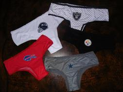NFL Women's Cheeky Silky Underwear Panties SEXY Pick Color &