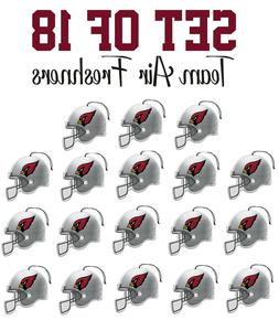 Set of 18 Arizona Cardinals Team Helmet Car Vehicle Room Cav