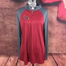 NFL Team Apparel Womens Arizona Cardinals TX3 Cool 1/4 Zip P