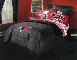 Arizona Cardinals Twin Sheet Set-NFL II-Striped, Fits Twin B