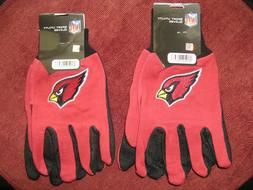 TWO  PAIR OF ARIZONA CARDINALS SPORT UTILITY GLOVES FROM FOR
