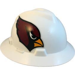 "MSA V-Gard FULL BRIM ARIZONA ""CARDINALS"" NFL Hard Hat Type 3"